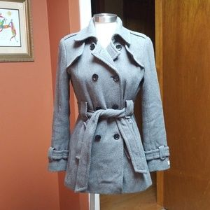 Calvin Klein gray wool short coat